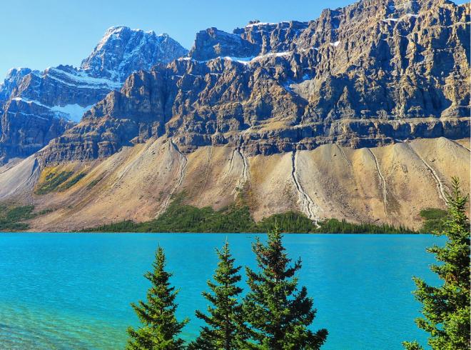 Mountain views in the Canadian Rockies, Alberta, Canada